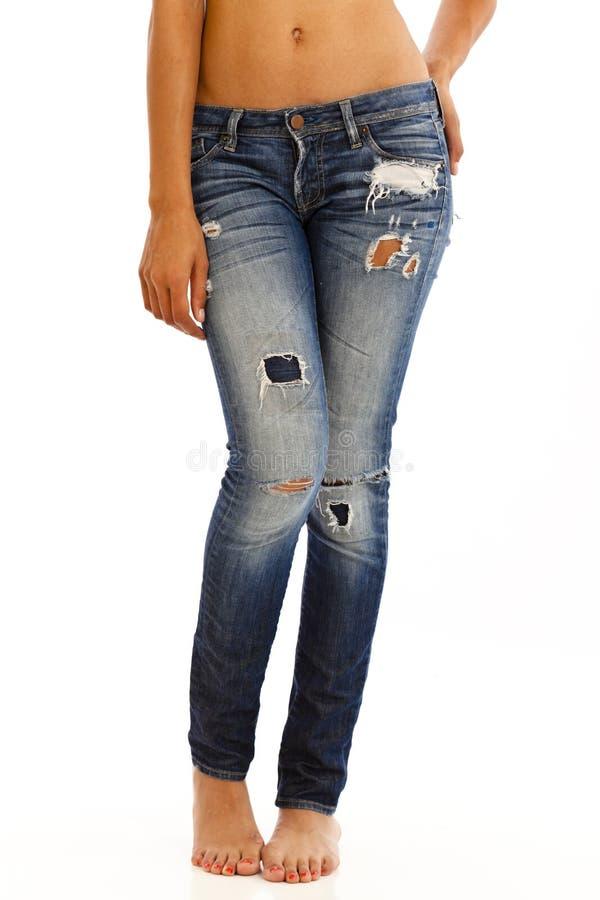 чуть-чуть верхняя часть джинсыов стоковая фотография rf