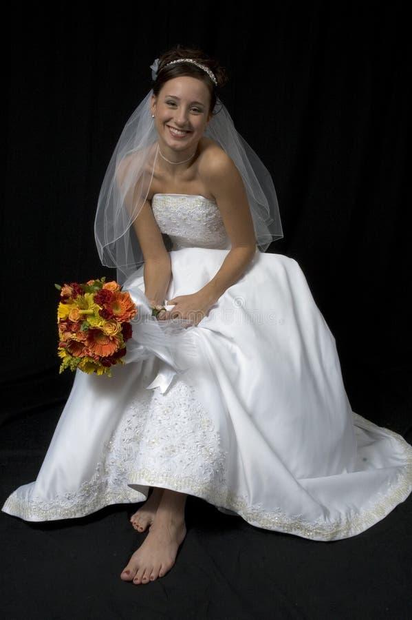 чуть-чуть нога невесты стоковое фото rf