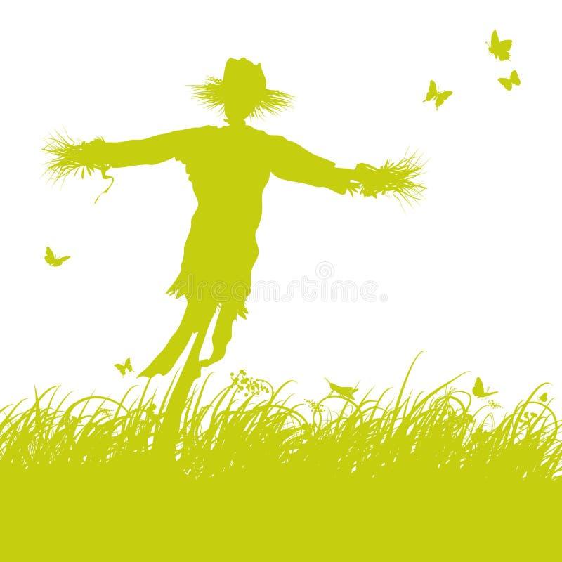 Чучело в ветре бесплатная иллюстрация