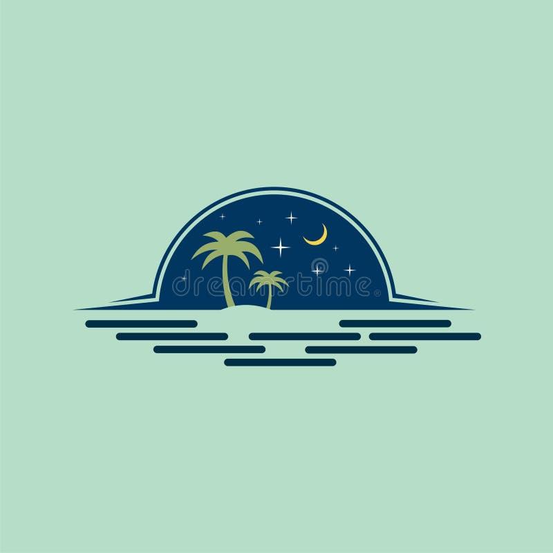 Чудесные ночи на пляже стоковое фото