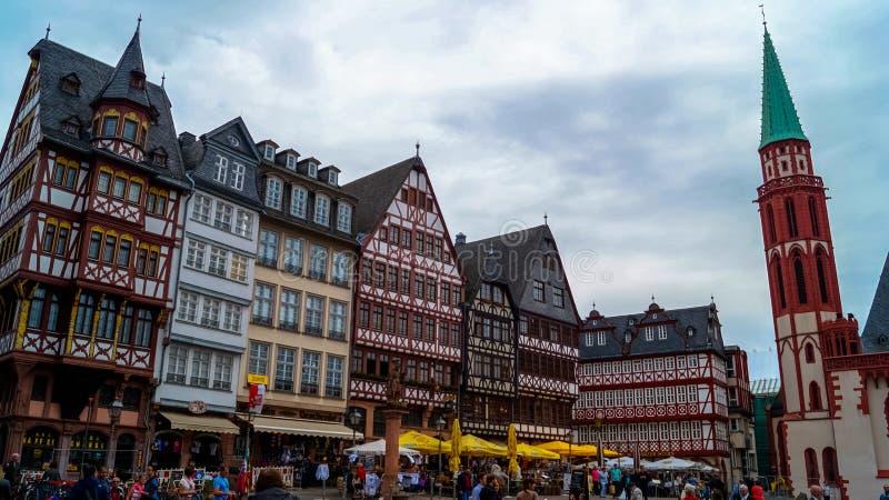 Чудесный взгляд центра Франкфурта стоковые фотографии rf