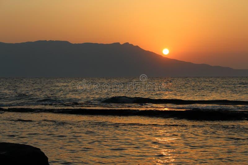 Чудесный заход солнца стоковое изображение rf