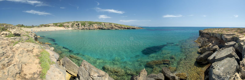 Чудесный песчаный пляж Sicilia стоковые фото