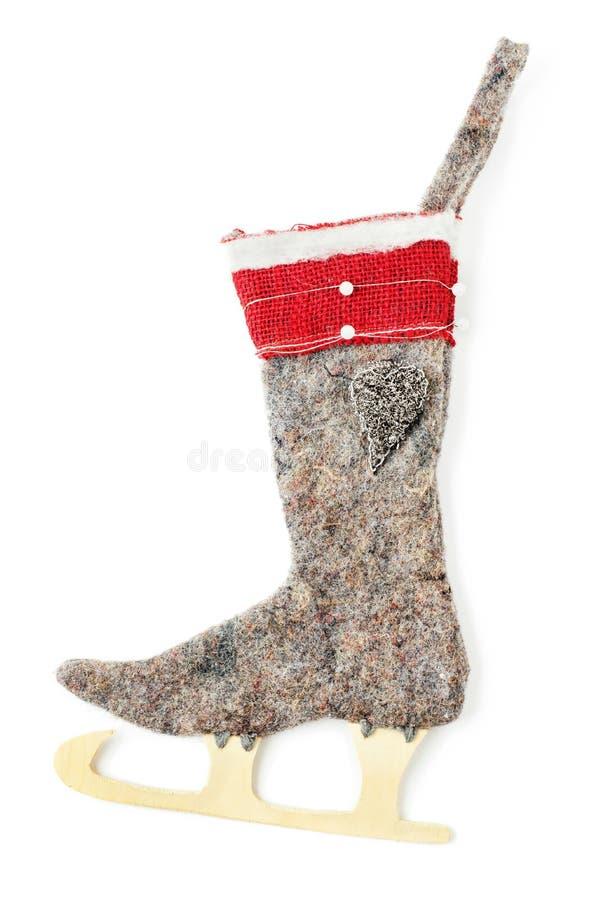 Чулок рождества шерстяной стоковое изображение rf