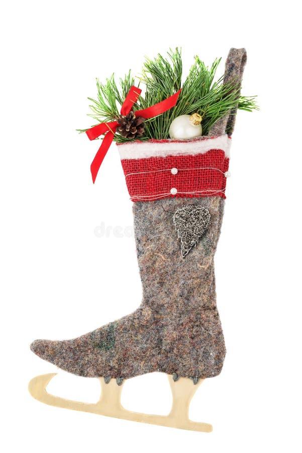 Чулок рождества шерстяной стоковое фото