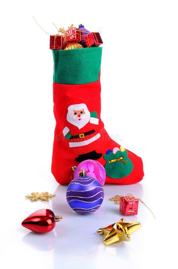 чулок рождества стоковое фото rf
