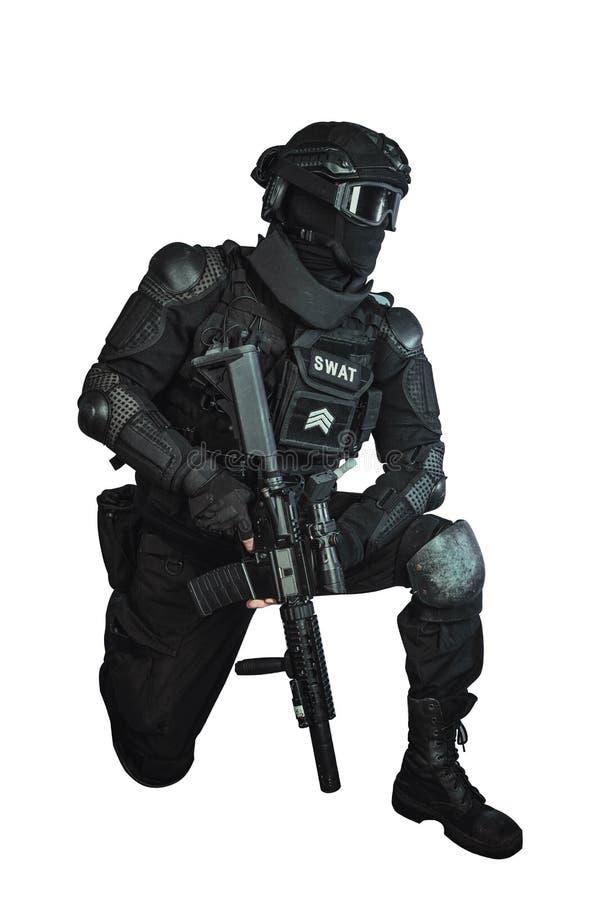 Член команды СВАТ стоковое изображение rf