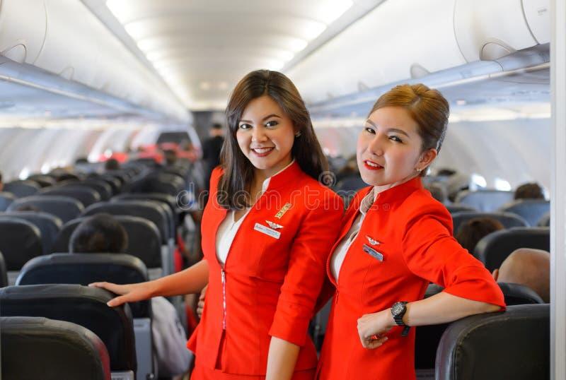 Член команды Air Asia стоковое изображение