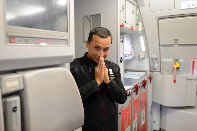 Член команды Air Asia стоковые изображения