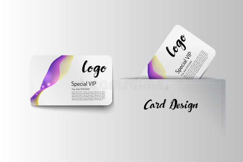 Член VIP и дизайн шаблона визитной карточки иллюстрация штока