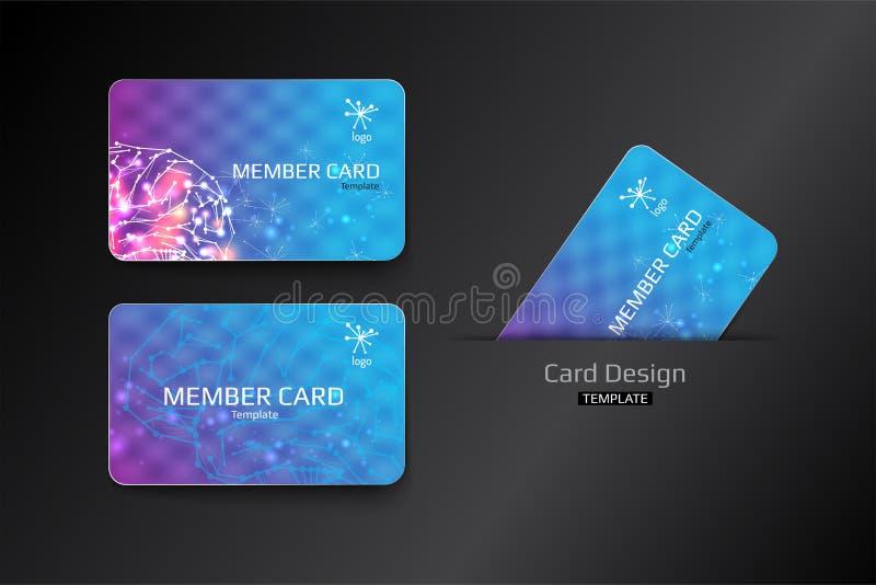 Член VIP и дизайн шаблона визитной карточки бесплатная иллюстрация