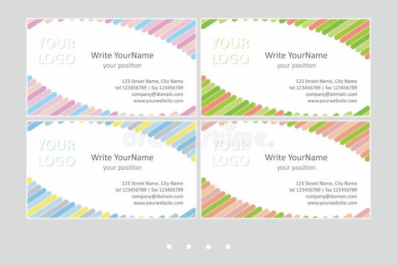 Шаблоны вектора визитной карточки Minimalistic Всеобщий геометрический дизайн с бледными овалами - как раз установите ваш текст бесплатная иллюстрация