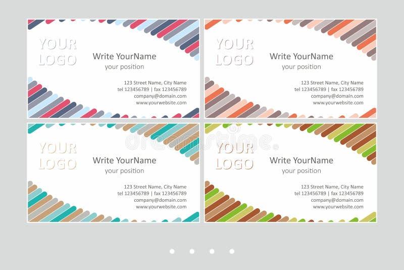 Шаблоны вектора визитной карточки Minimalistic Всеобщий геометрический дизайн с акцентом цвета - как раз местом ваш текст бесплатная иллюстрация