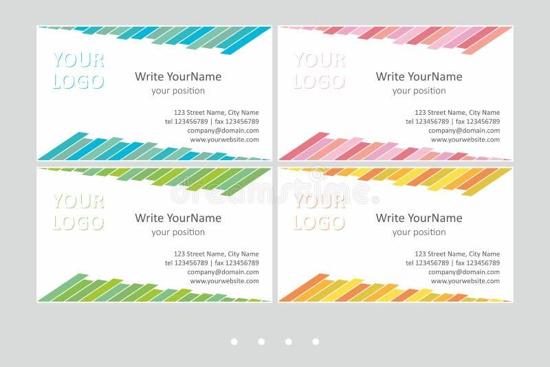 Шаблоны вектора визитной карточки Minimalistic Всеобщий геометрический дизайн со светлым акцентом - как раз местом ваш текст иллюстрация вектора