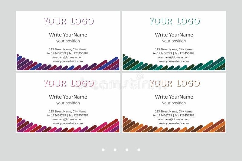 Шаблоны вектора визитной карточки Minimalistic Всеобщий геометрический дизайн с ярким акцентом - как раз местом ваш текст бесплатная иллюстрация