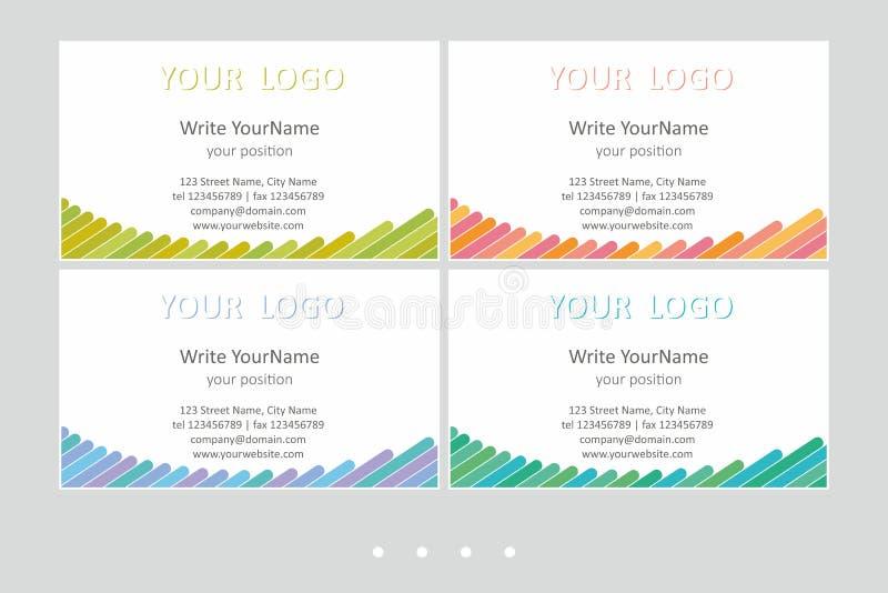 Шаблоны вектора визитной карточки Minimalistic Всеобщий геометрический дизайн с ярким акцентом - как раз местом ваш текст иллюстрация штока