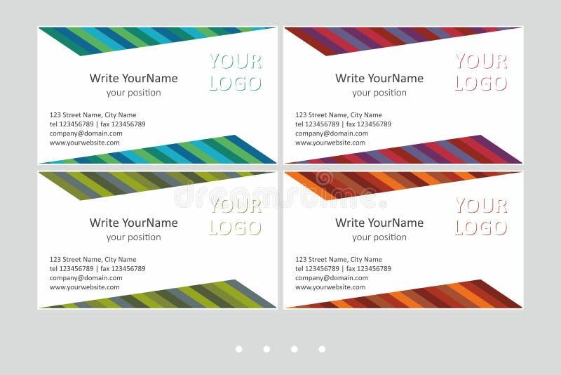 Шаблоны вектора визитной карточки Minimalistic Всеобщий геометрический дизайн с multicolor акцентом - как раз местом ваш текст В  иллюстрация штока