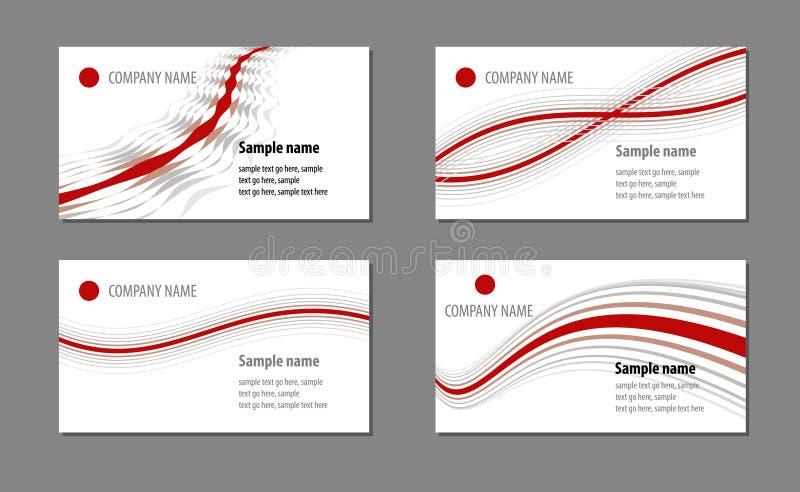 шаблоны визитных карточек иллюстрация штока