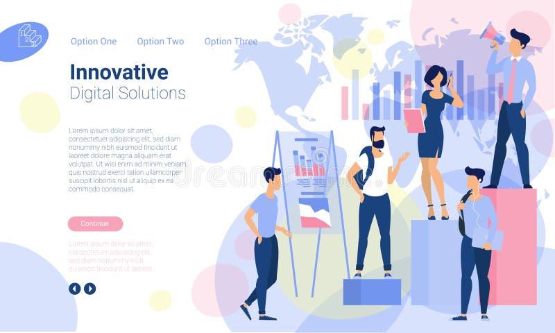 Шаблоны дизайна интернет-страницы иллюстрация штока