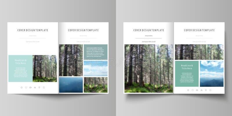 Шаблоны для брошюры, рогульки, буклета или отчета о створки bi Покройте шаблон дизайна, абстрактный план вектора в размере A4 иллюстрация вектора