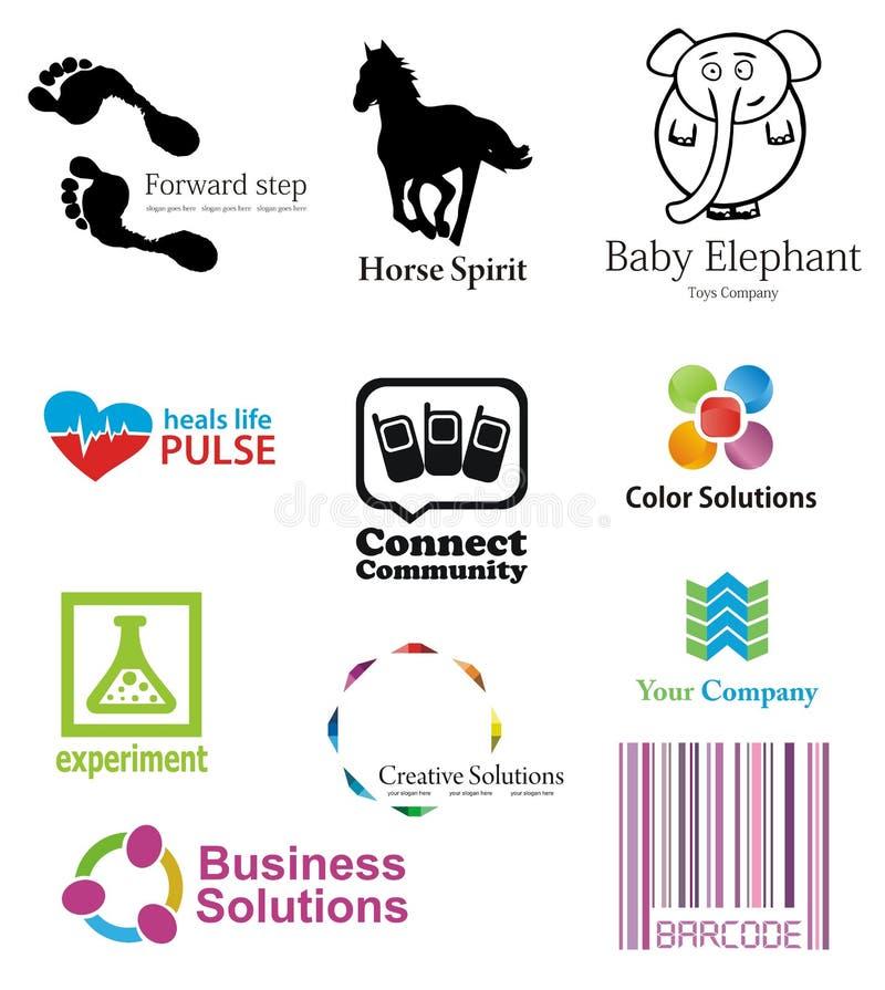 шаблоны пакета логотипа стоковая фотография