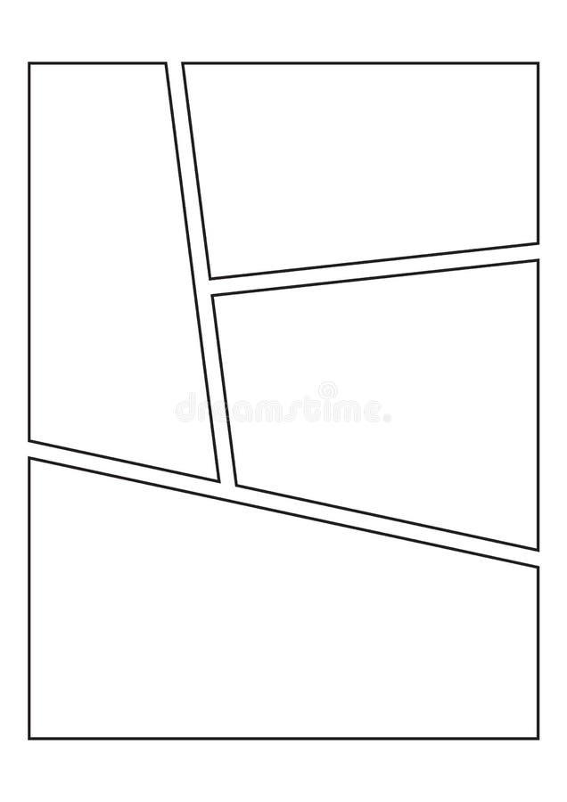 Шаблоны прокладки комика бесплатная иллюстрация