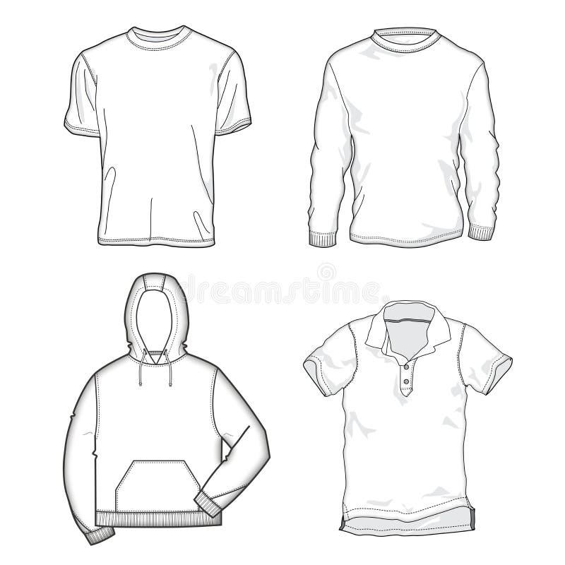 шаблоны рубашки иллюстрация вектора