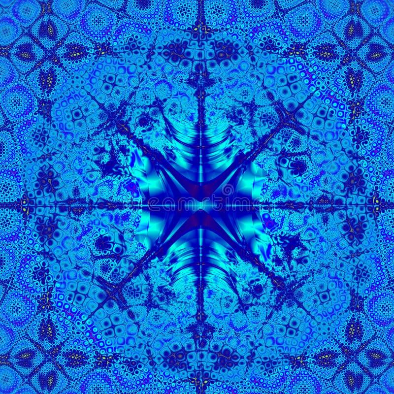 шаблон абстрактной конструкции предпосылки голубой шикарный иллюстрация штока