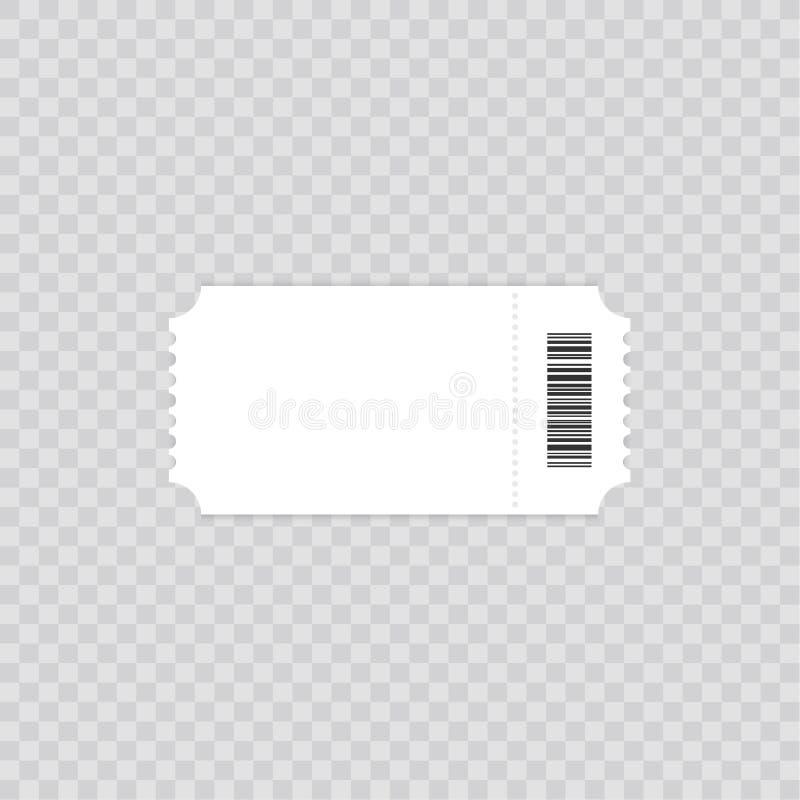 Шаблон билета Директива элемента билета для дизайна Очистите реалистический модель-макет пропуска Плоский дизайн, иллюстрация век иллюстрация вектора