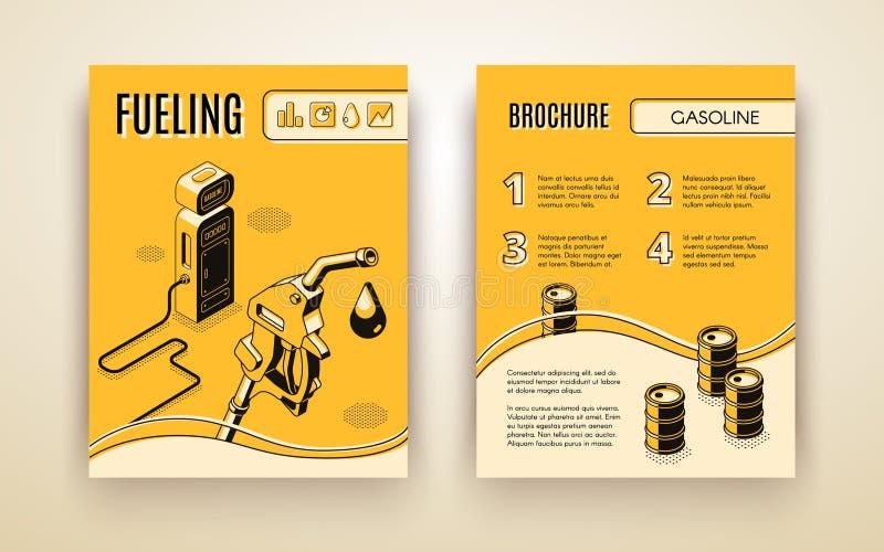 Шаблон брошюры вектора с равновеликой бензоколонкой бесплатная иллюстрация