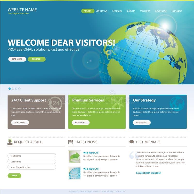 Шаблон вебсайта иллюстрация вектора