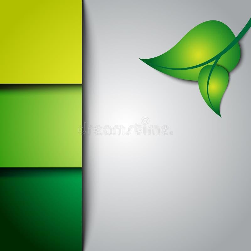 Шаблон вебсайта Eco зеленый иллюстрация вектора