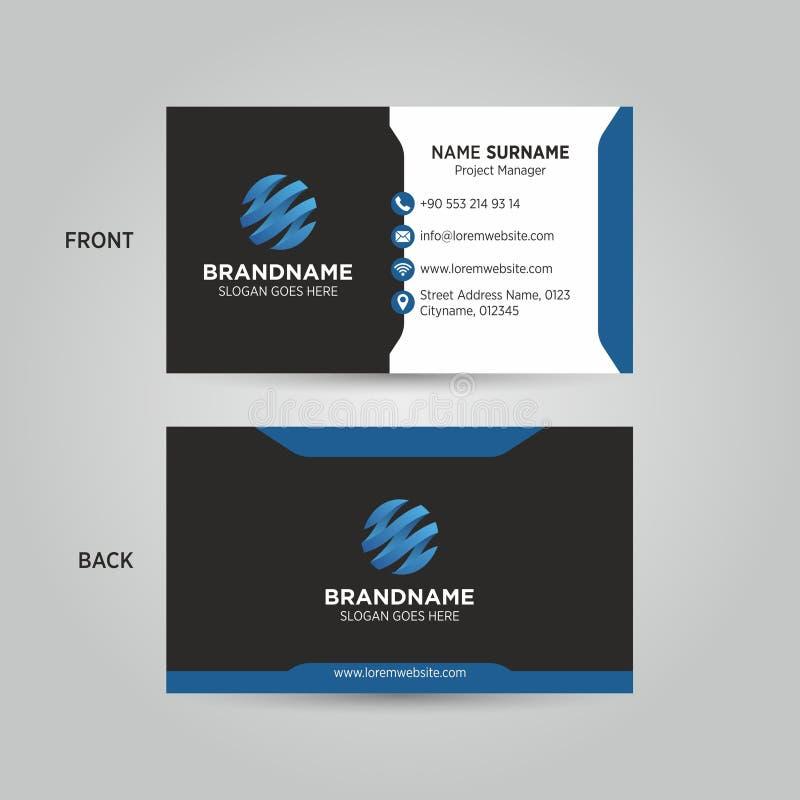 Шаблон вектора визитной карточки стоковое изображение rf