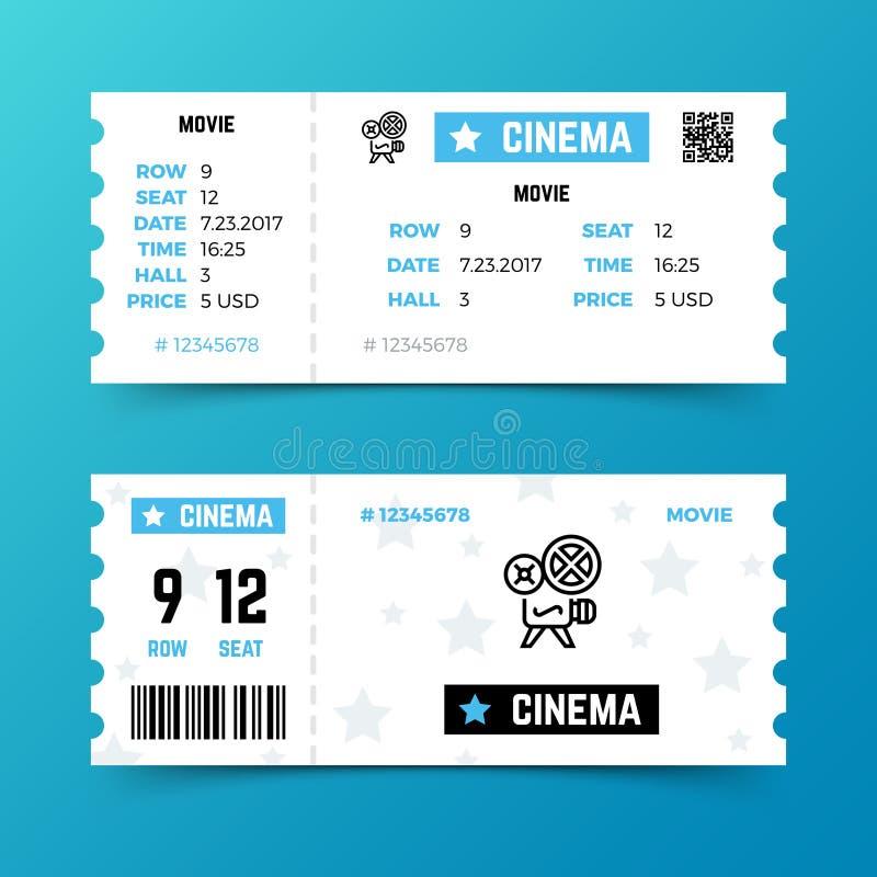 Шаблон вектора входного билета кино в современном минималистичном стиле бесплатная иллюстрация