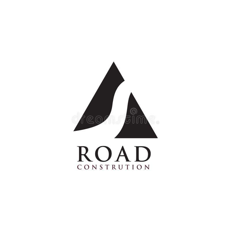 Шаблон вектора дизайна логотипа дороги бесплатная иллюстрация