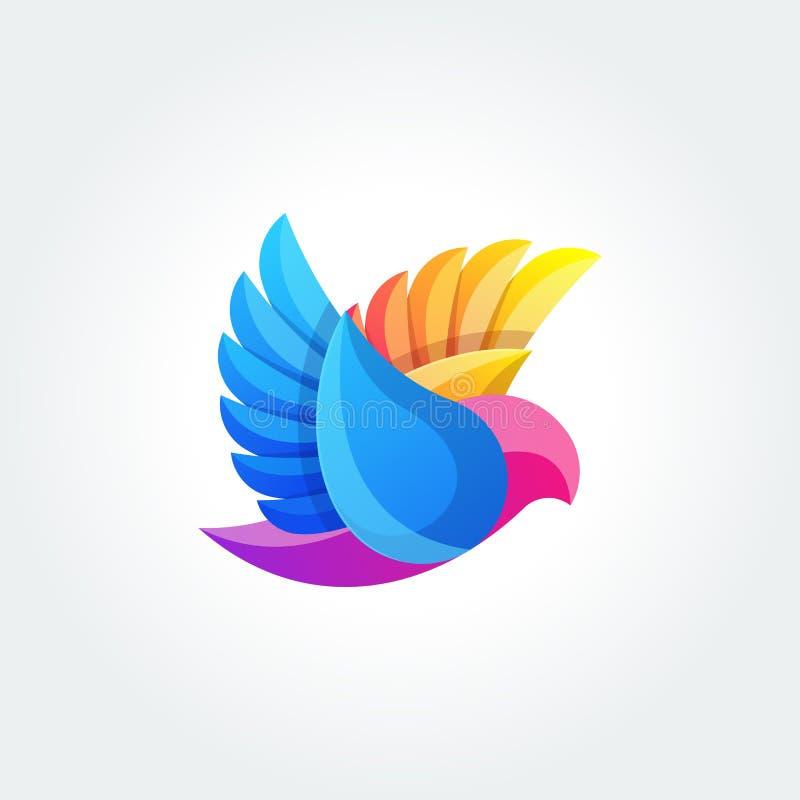 Шаблон вектора дизайна логотипа конспекта птицы Значок летая концепции логотипа голубя иллюстрация штока