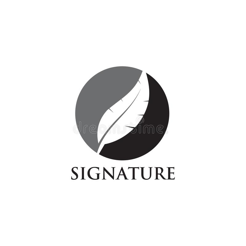 Шаблон вектора дизайна логотипа ручки пера иллюстрация вектора