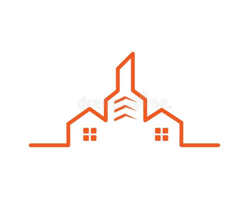 шаблон вектора здания города недвижимости современный бесплатная иллюстрация