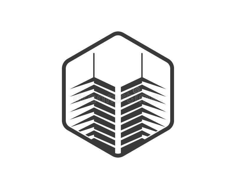 шаблон вектора здания города недвижимости современный иллюстрация штока