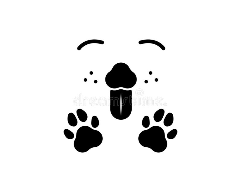 шаблон вектора значка логотипа собаки иллюстрация вектора