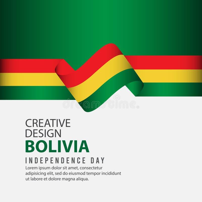 Шаблон вектора иллюстрации дизайна торжества Дня независимости Боливии творческий иллюстрация вектора