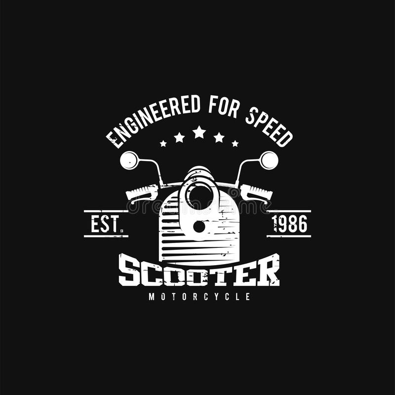 Шаблон вектора логотипа мотоцикла Шаблон логотипа для вашего дела иллюстрация штока