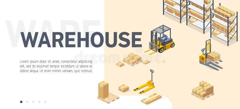 Шаблон вектора места обслуживания склада равновеликий бесплатная иллюстрация
