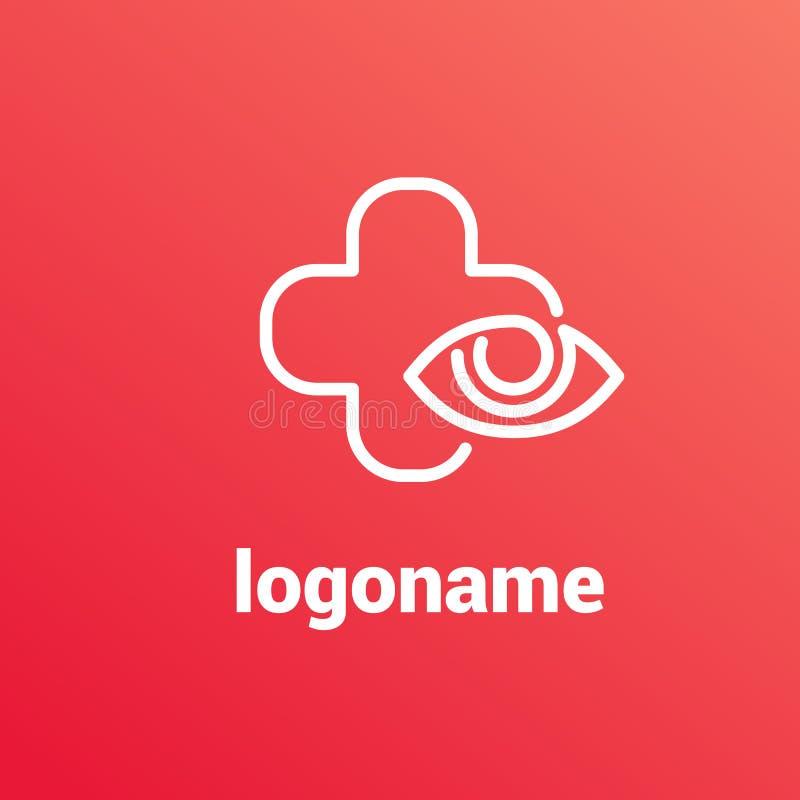 Шаблон вектора офтальмолога дизайна логотипа иллюстрация вектора