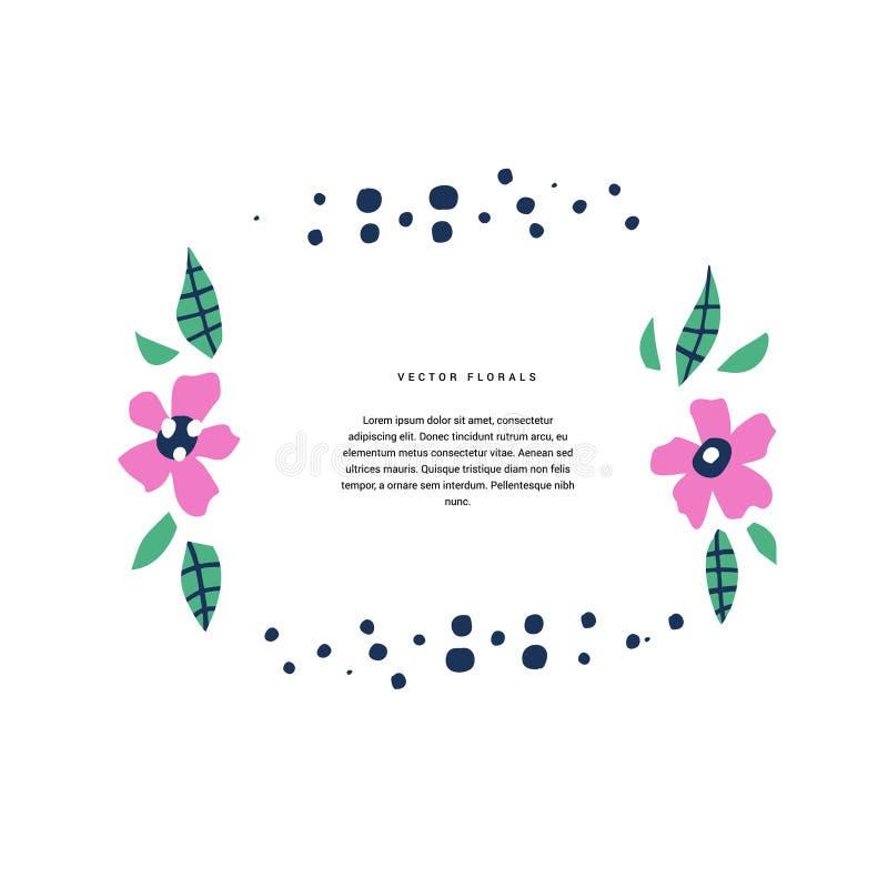 Шаблон вектора цвета ботанического круга текста плоский иллюстрация вектора