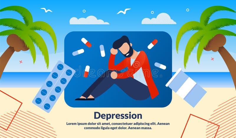Шаблон векторного баннера обработки депрессионной деформации бесплатная иллюстрация