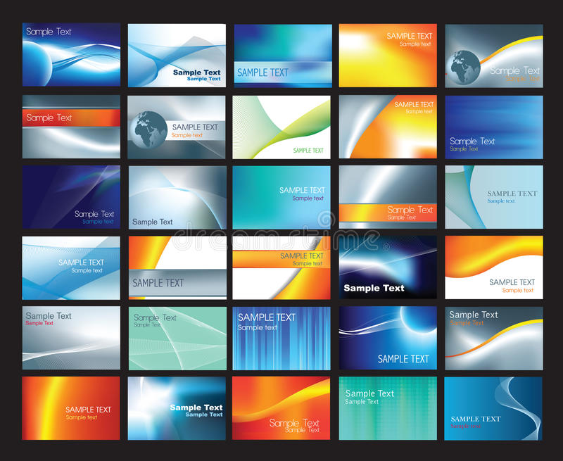 шаблон визитной карточки установленный иллюстрация вектора