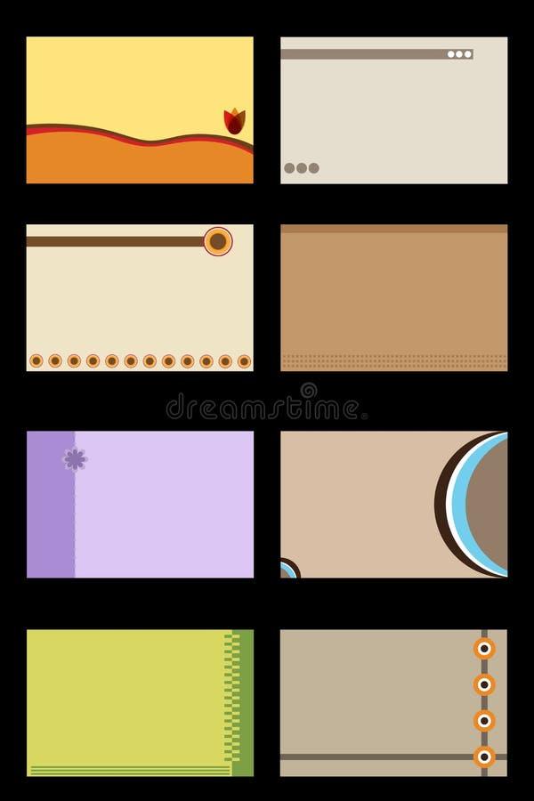 шаблон визитных карточек иллюстрация штока