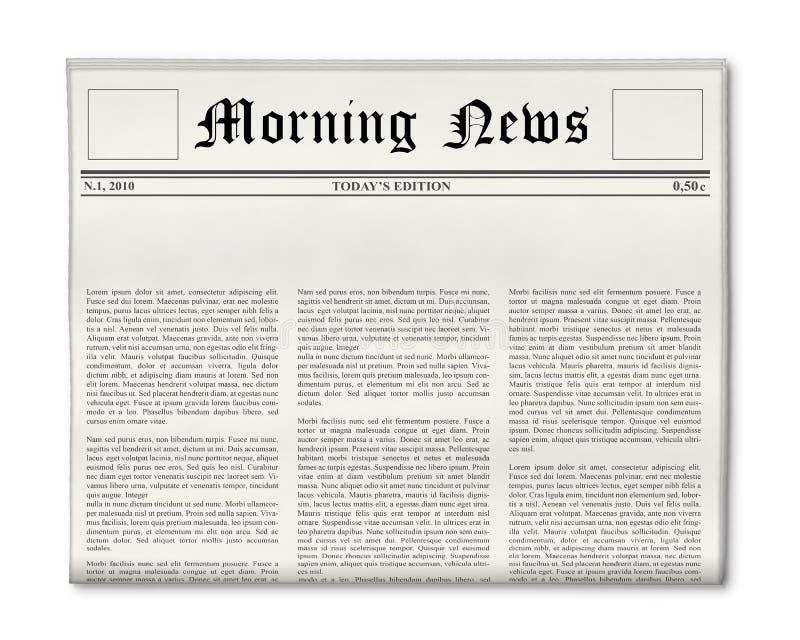 шаблон газеты главной линии