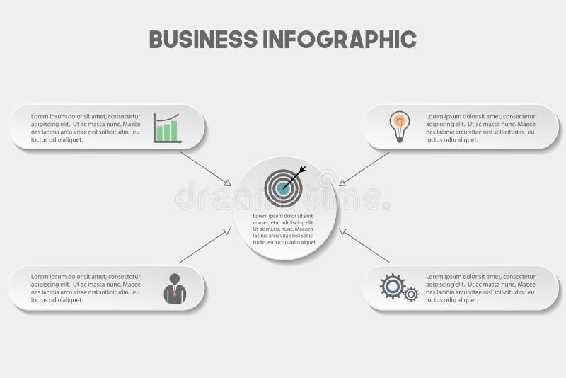 Шаблон дела infographic иллюстрация штока